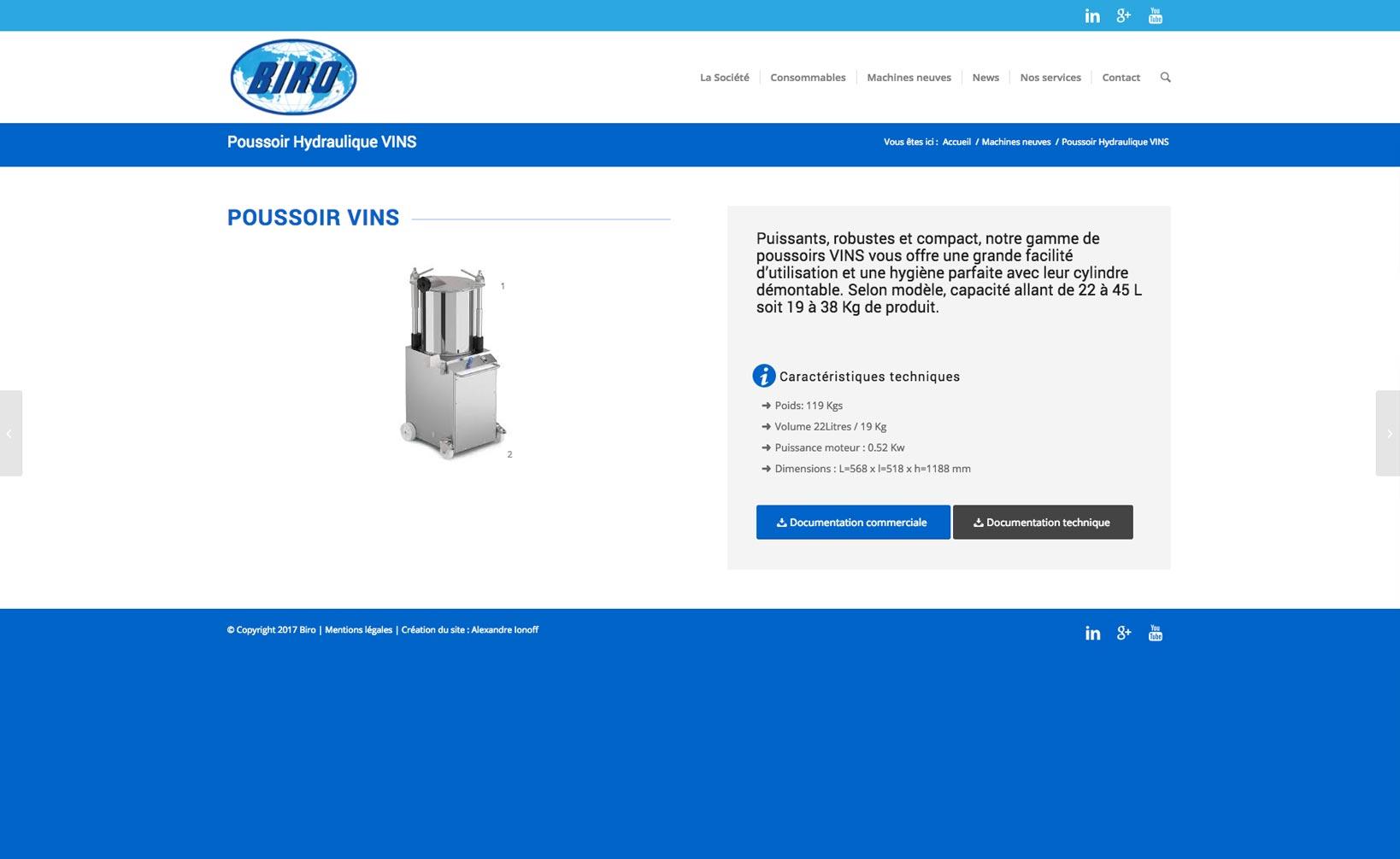 Site web Biro - vue desktop 2