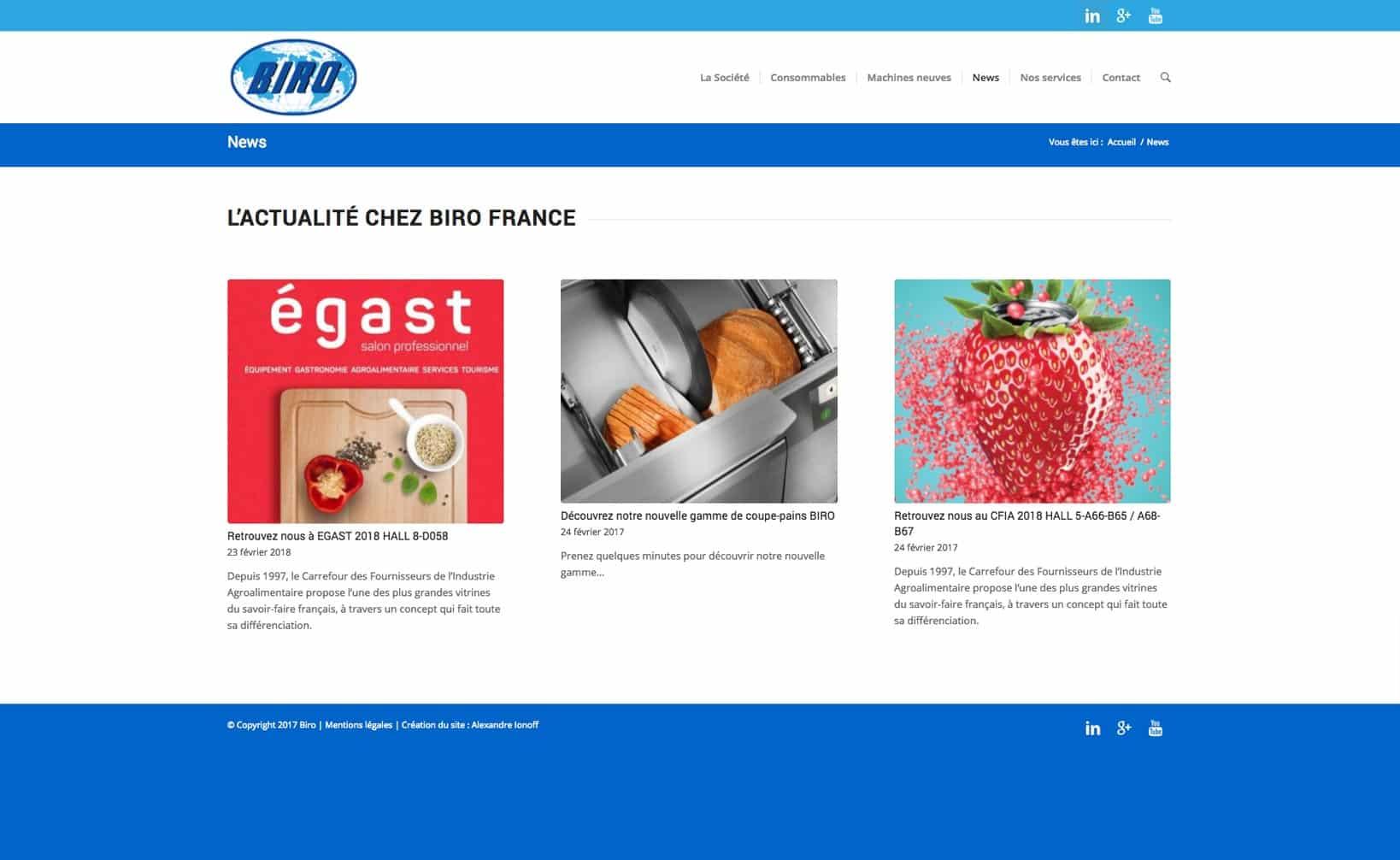 Site web Biro - vue desktop 3