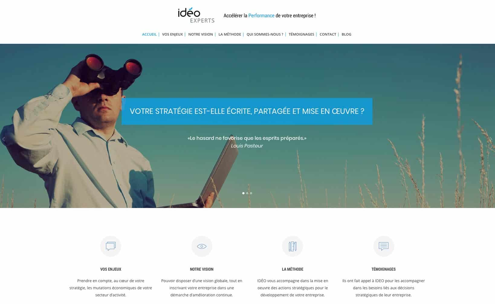 Site web Ideo Experts - vue desktop 1