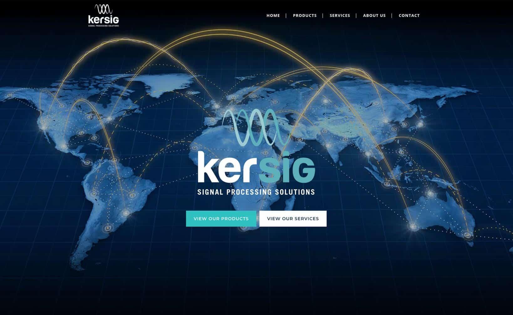 Site web Kersig - vue desktop 1