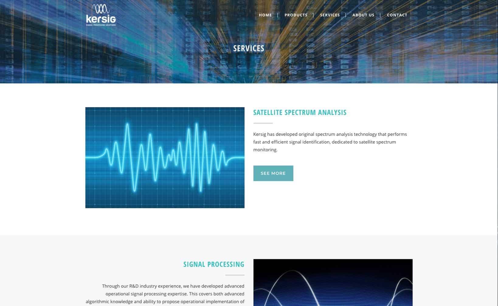 Site web Kersig - vue desktop 2