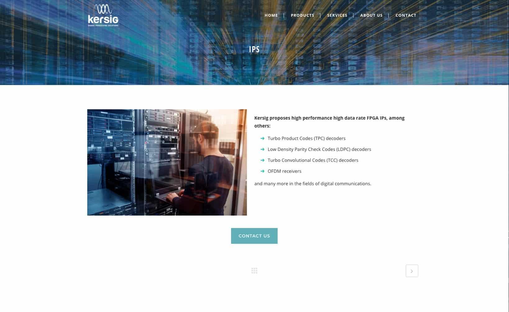 Site web Kersig - vue desktop 3