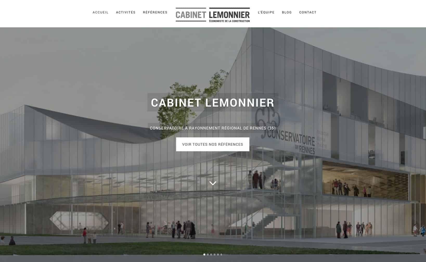 Site web Cabinet Lemmonier - vue desktop 1