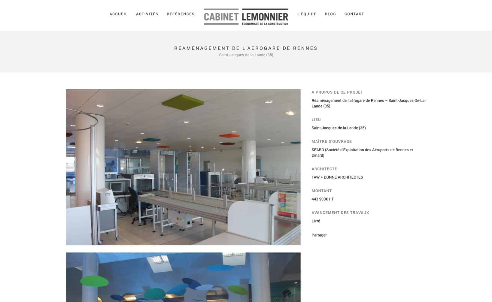 Site web Cabinet Lemmonier - vue desktop 3