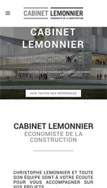 Site web Cabinet Lemmonier - vue mobile 1