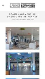 Site web Cabinet Lemmonier - vue mobile 3