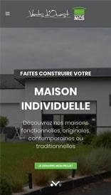 Site web MCS Vents d'Ouest - vue mobile 1