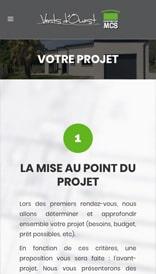 Site web MCS Vents d'Ouest - vue mobile 2