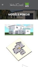 Site web MCS Vents d'Ouest - vue mobile 3