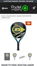 Site web Padel Shopping - vue mobile 3