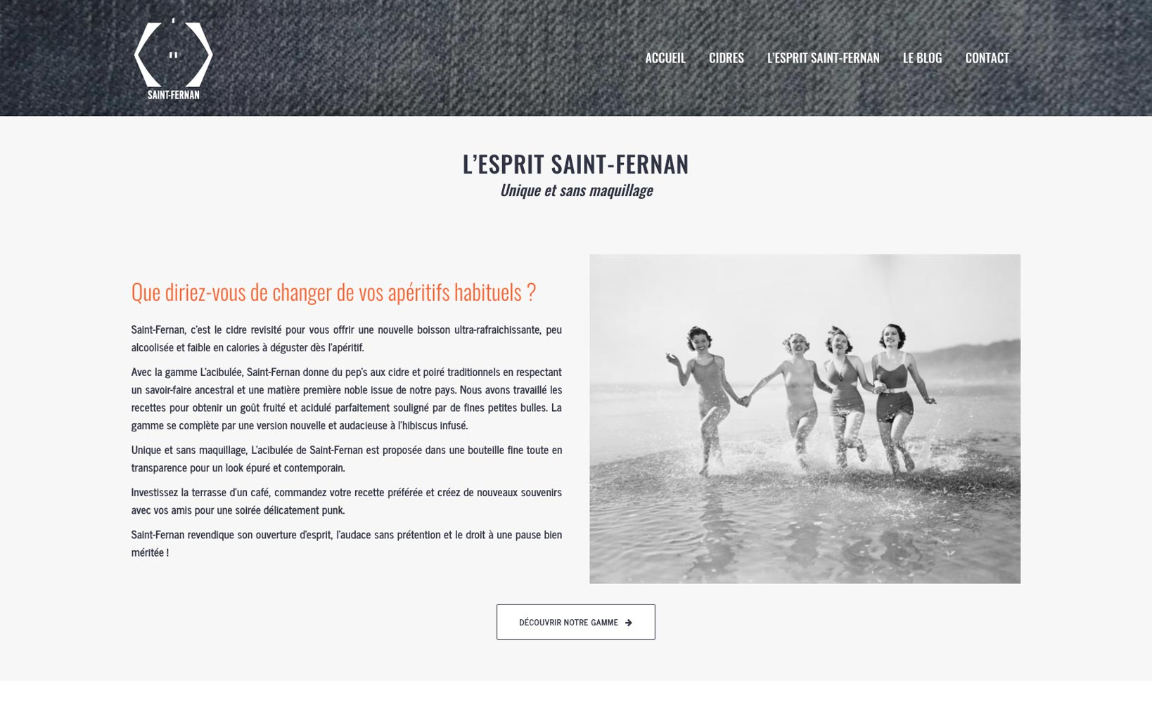 Site web Saint Fernan - vue desktop 3
