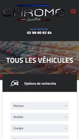 Site web Chrome Consulting - vue mobile 2