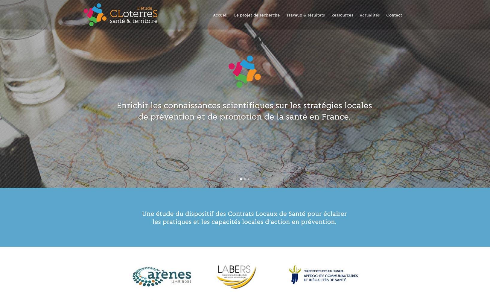 Site web CLoterreS - vue desktop 1