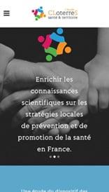 Site web CLoterreS - vue mobile 1