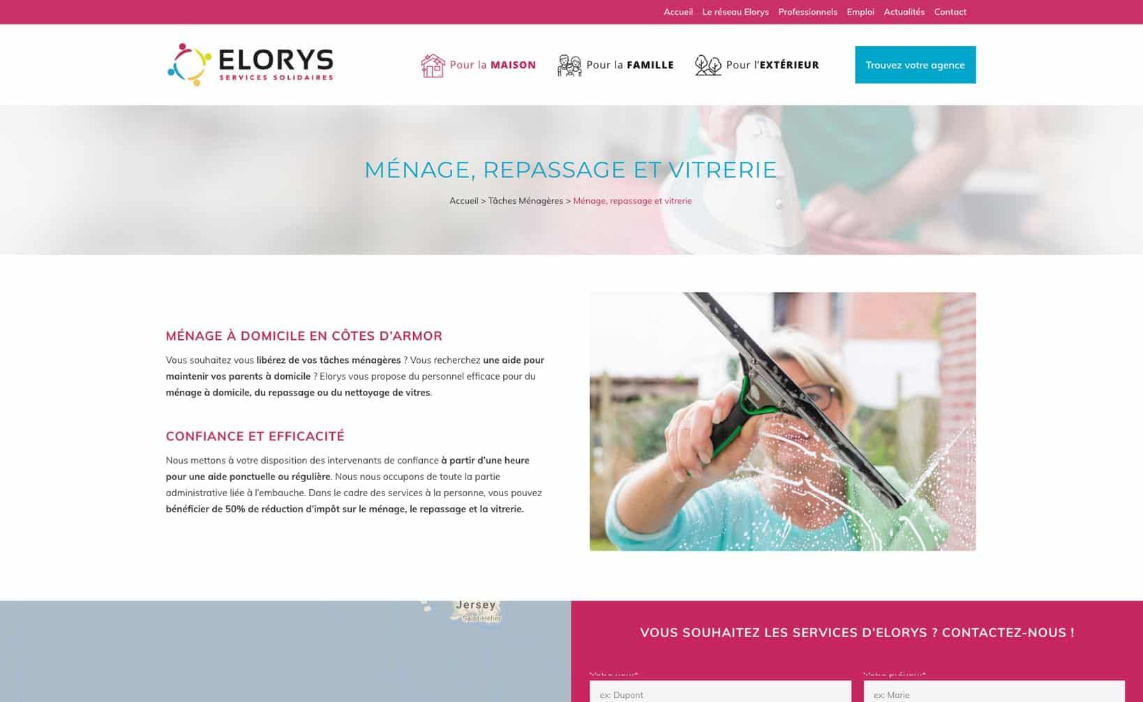 Site web Elorys - vue desktop 2