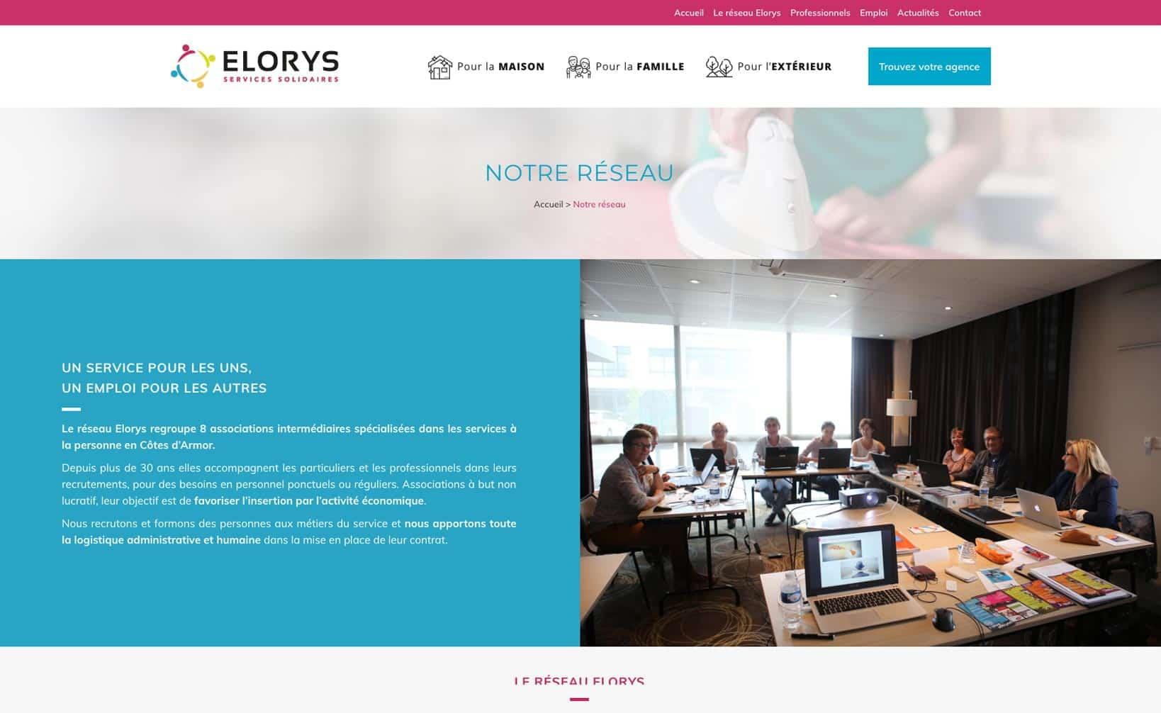 Site web Elorys - vue desktop 3