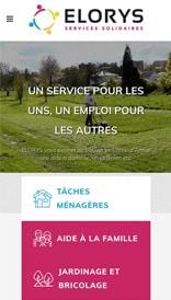 Site web Elorys - vue mobile 1