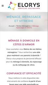 Site web Elorys - vue mobile 2