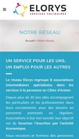 Site web Elorys - vue mobile 3