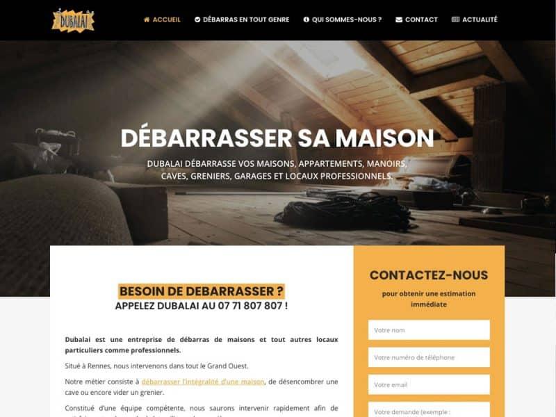 Dubalai Débarras - site web