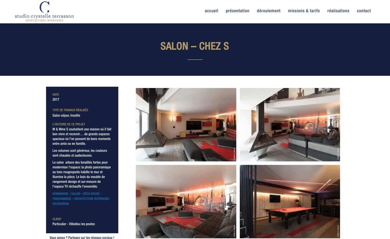 Studio Crystelle Terrasson - site web bureau