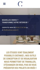 Studio Crystelle Terrasson - site web mobile
