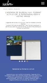 Vachon Agendas - site web mobile