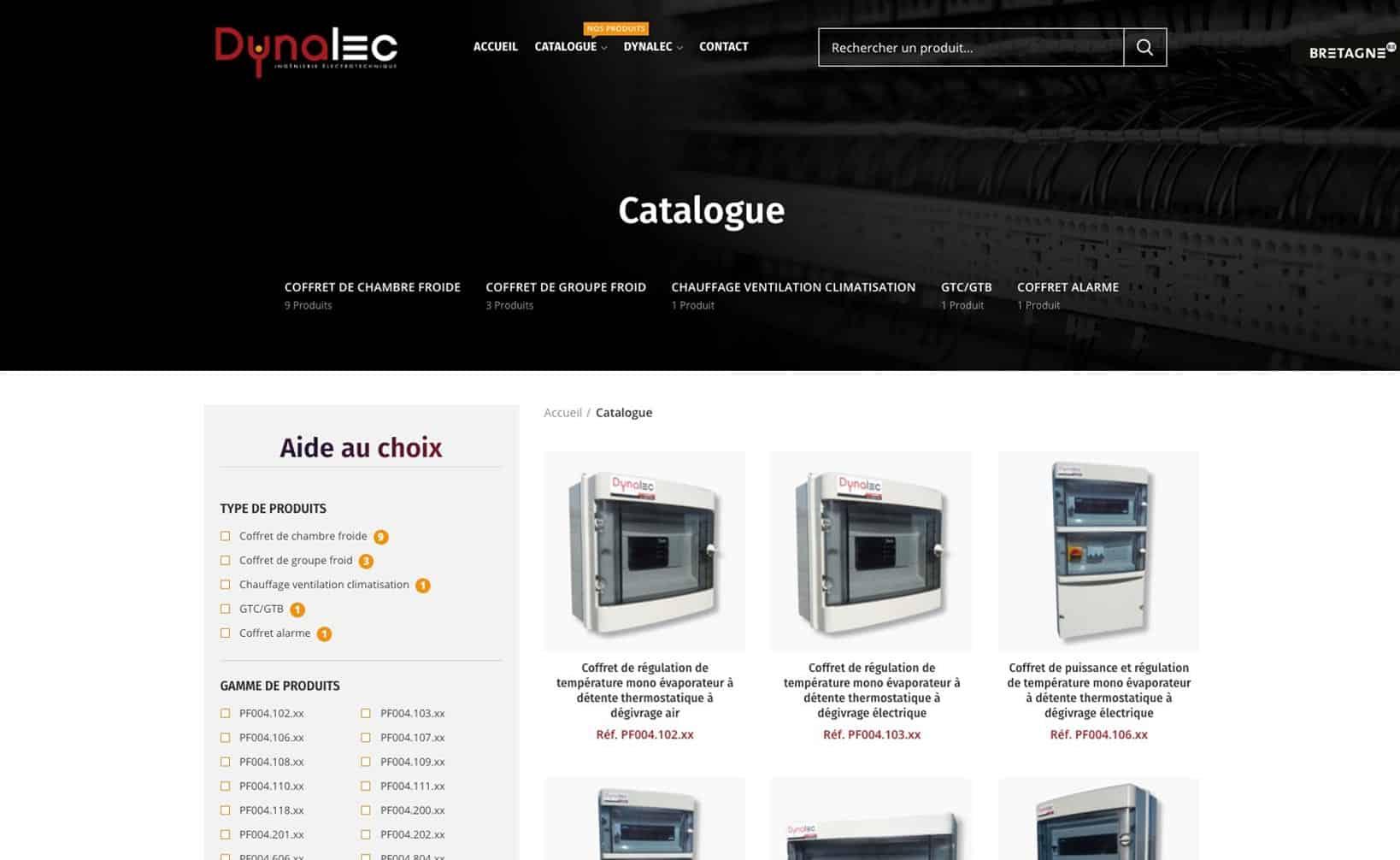 Dynalec - site web bureau