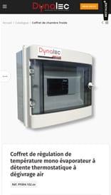 Dynalec - site web mobile