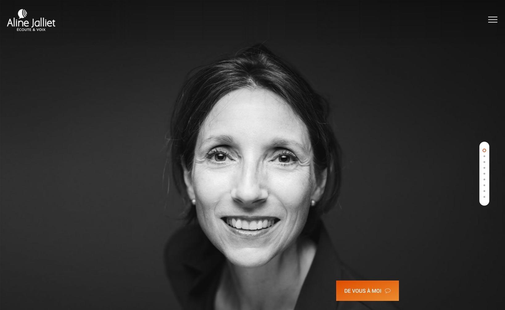 Aline Jalliet - site web vue bureau
