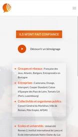Aline Jalliet - site web vue mobile