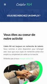 Cabéo RH - site web vue mobile