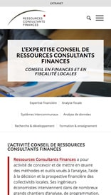 Ressources Consultants Finances - site web mobile